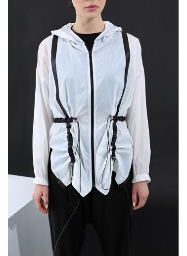 Soie Design Yağmurluk Beyaz